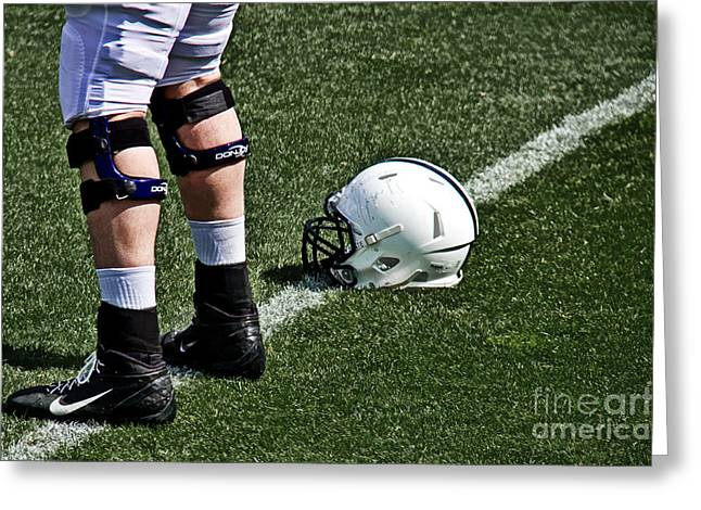 Spring Football Greeting Card by Tom Gari Gallery-Three-Photography