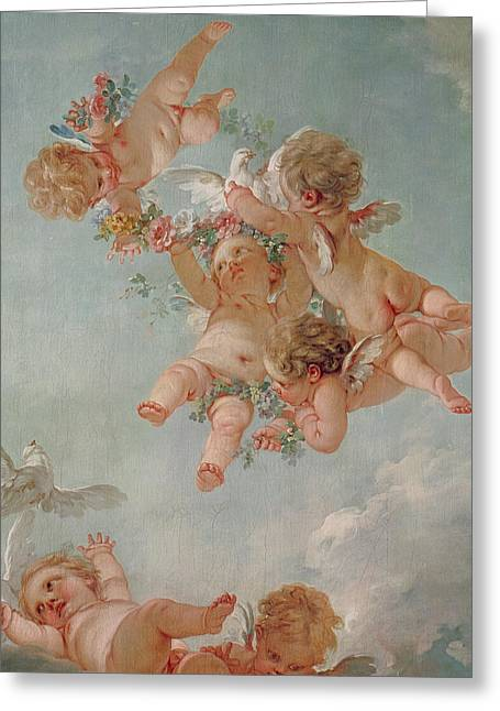 Spring Greeting Card by Francois Boucher