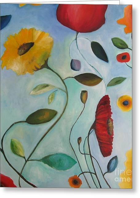 Xxi Art Greeting Cards - Spring Garden Greeting Card by Venus