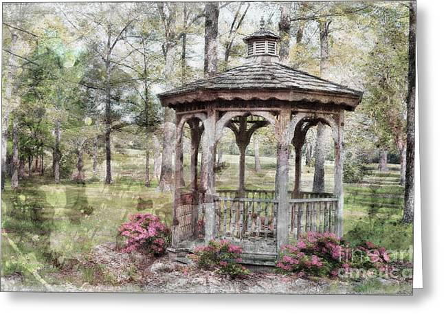 Spring Gazebo painteffect Greeting Card by Debbie Portwood