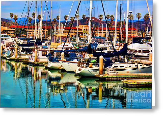 Ventura California Greeting Cards - Spring Harbor Greeting Card by Mariola Bitner