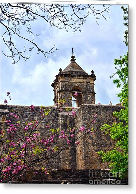 Architecture Metal Prints Greeting Cards - Spring has arrived at the San Jose Mission in San Antonio Texas Greeting Card by Gerlinde Keating - Keating Associates Inc