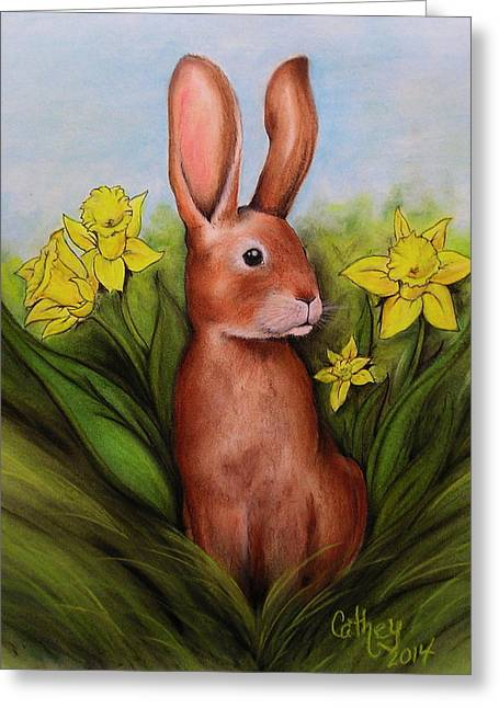 Hare Pastels Greeting Cards - Spring Has Sprung Greeting Card by Catherine Howley