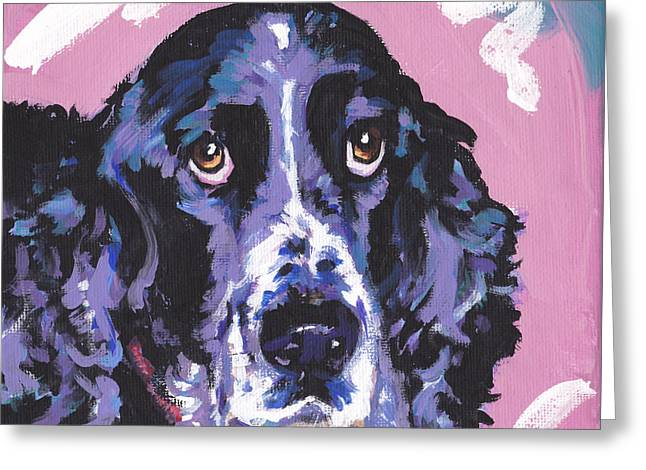 Dog Portraits Greeting Cards - Spring Has Sprung Greeting Card by Lea