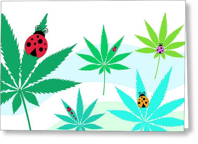 Spring Has Sprung With Ladybugs! Greeting Card by Stock Pot Images