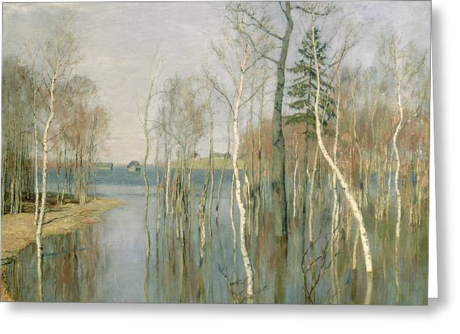 Spring High Water Greeting Card by isaak Ilyich Levitan