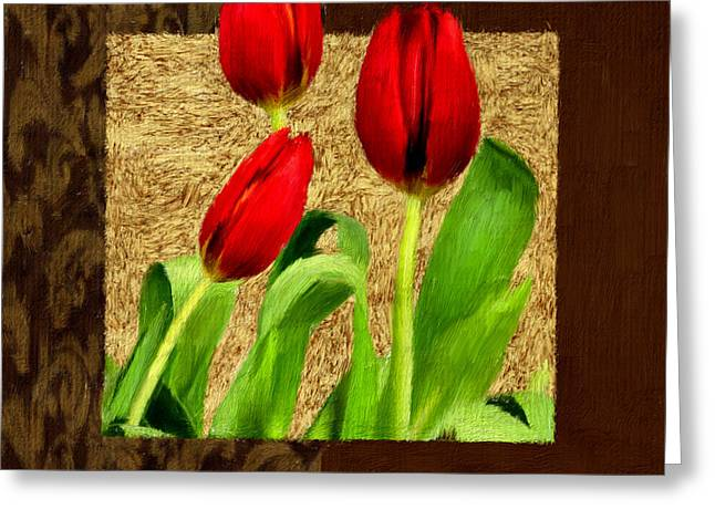 Floral Still Life Greeting Cards - Spring Hues Greeting Card by Lourry Legarde