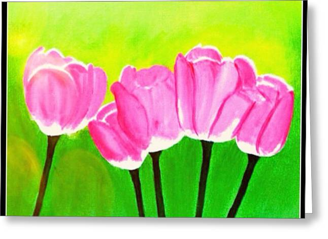 Female ist Mixed Media Greeting Cards - Spring I Greeting Card by Anita Lewis