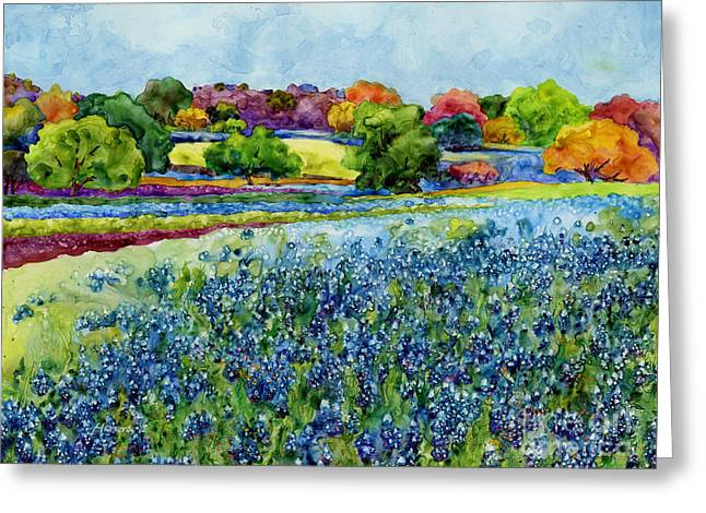 Texas Wild Flowers Greeting Cards - Spring Impressions Greeting Card by Hailey E Herrera