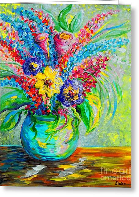 Sienna Greeting Cards - Spring in a Vase Greeting Card by Eloise Schneider