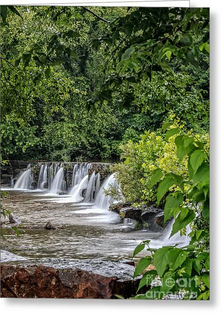 Natural Dam Arkansas Greeting Cards - Spring in Arkansas Greeting Card by Larry McMahon