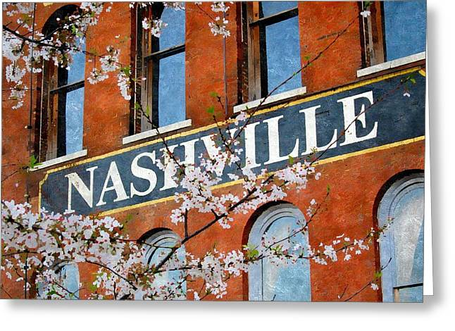 Architecture Of Nashville Greeting Cards - Spring in Nashville Greeting Card by Karyn Robinson