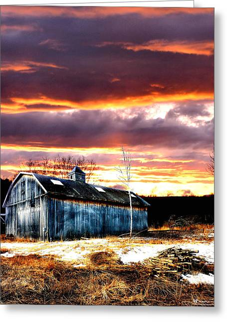 Maine Farms Greeting Cards - Spring in New England Greeting Card by Fred LaPoint