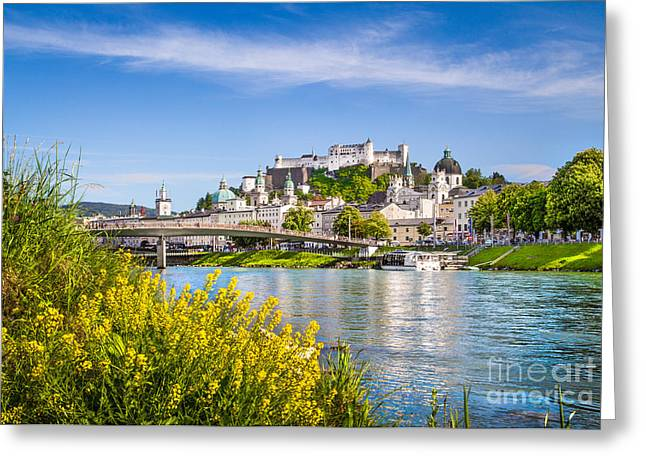 Salzburg Greeting Cards - Spring in Salzburg Greeting Card by JR Photography
