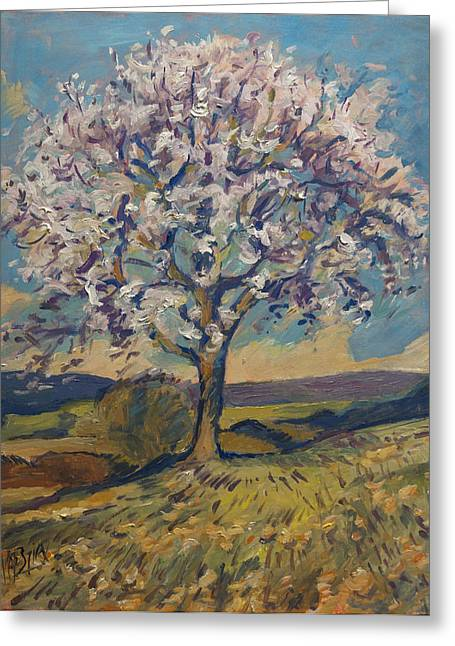 Limburg Paintings Greeting Cards - Spring in South Limburg Greeting Card by Nop Briex
