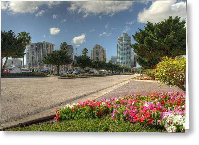 St Petersburg Florida Greeting Cards - Spring in St.Pete Greeting Card by Billy Davis Photography