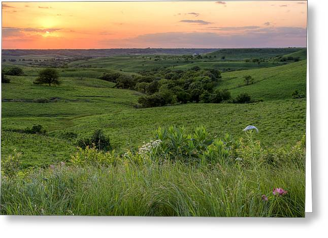 Kansas Landscape Art Greeting Cards - Spring in the Flint Hills Greeting Card by Scott Bean