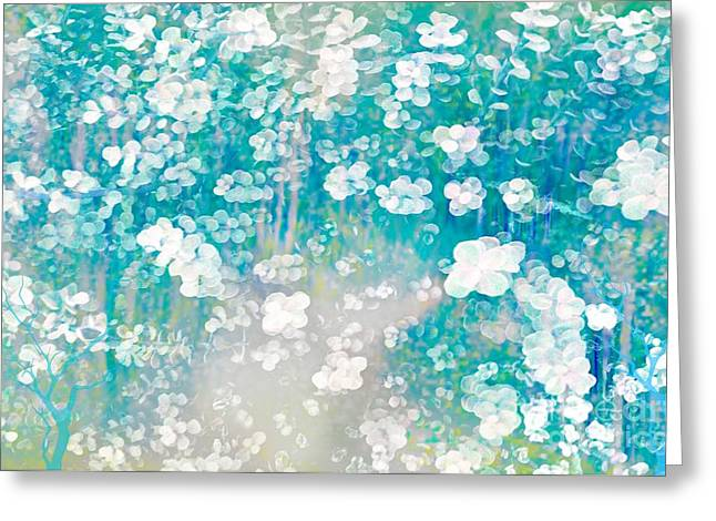 Sherri Painting Greeting Card featuring the digital art Spring In The Forest  by Sherri  Of Palm Springs
