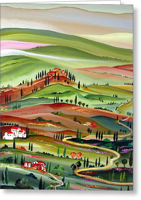 Chianti Hills Greeting Cards - Spring in Val D Orcia Toscana Greeting Card by Roberto Gagliardi