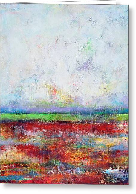Land Love And Sky Greeting Cards - Spring Greeting Card by Johane Amirault