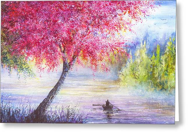Kinkade Greeting Cards - Spring Journey Greeting Card by Ann Marie Bone