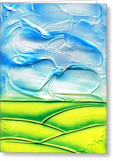 Clouds Reliefs Greeting Cards - Spring. Greeting Card by Kenneth Clarke