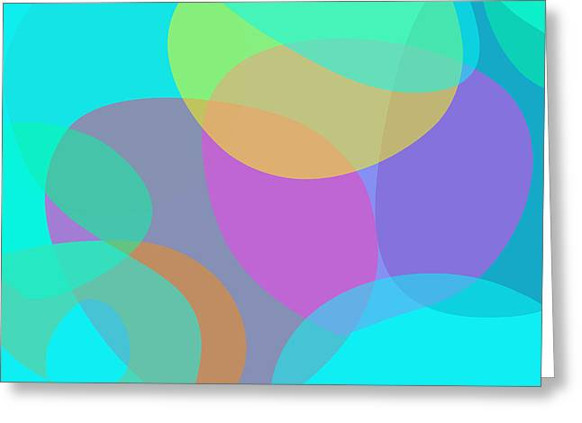 Recently Sold -  - Abstract Forms Greeting Cards - Spring Greeting Card by Masaaki Kimura