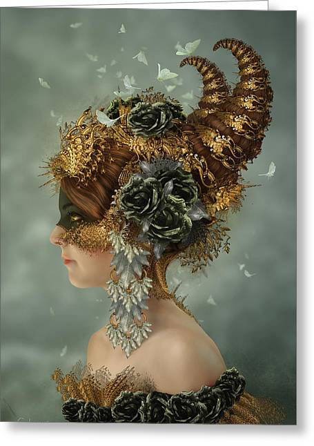 Spring Masquerade Greeting Card by Cassiopeia Art