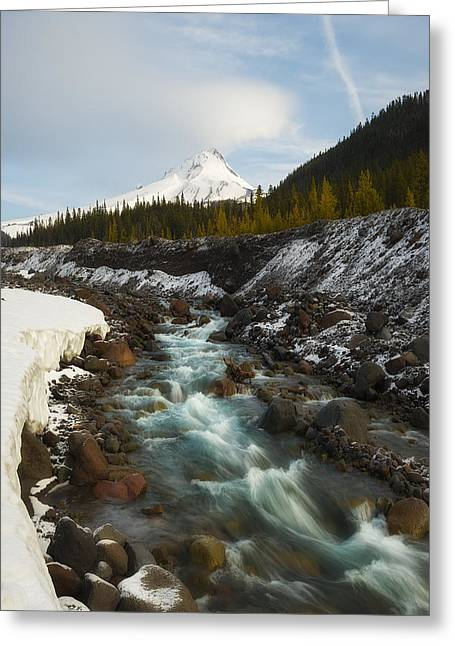White River Greeting Cards - Spring Melt at the White River Greeting Card by Ryan Manuel