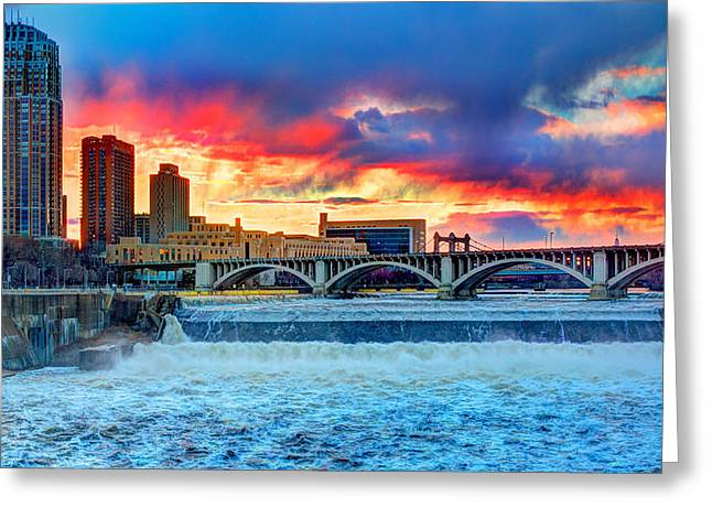 River Flooding Greeting Cards - Spring Melt on the Mississippi Greeting Card by Amanda Stadther