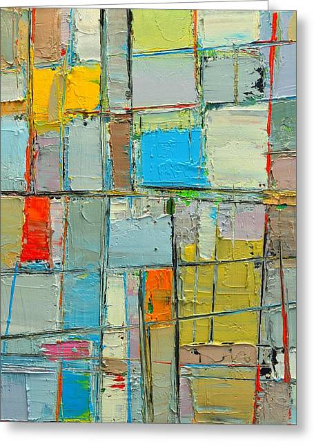 Muted Palette Greeting Cards - SPRING MOOD - ABSTRACT COMPOSITION - abwgc2 Greeting Card by Ana Maria Edulescu