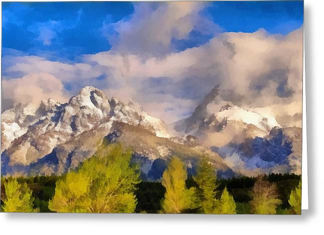 Rocky In Spring Greeting Cards - Spring Morning In The Tetons Greeting Card by Dan Sproul