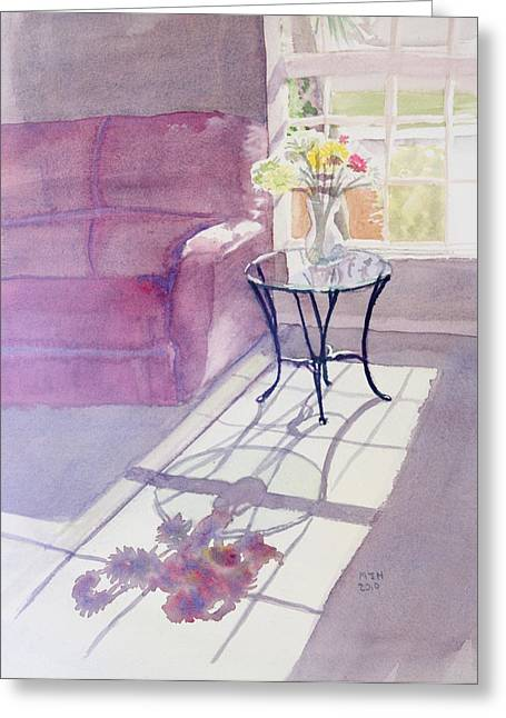 Interior Still Life Paintings Greeting Cards - Spring Morning Greeting Card by Melanie Harman