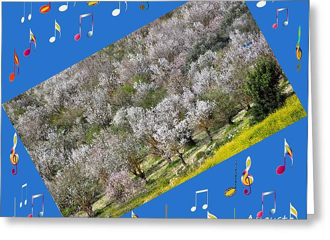 Star Valley Greeting Cards - Spring Music Greeting Card by Augusta Stylianou