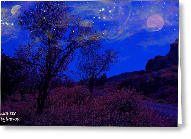Star Valley Greeting Cards - Spring Night Greeting Card by Augusta Stylianou