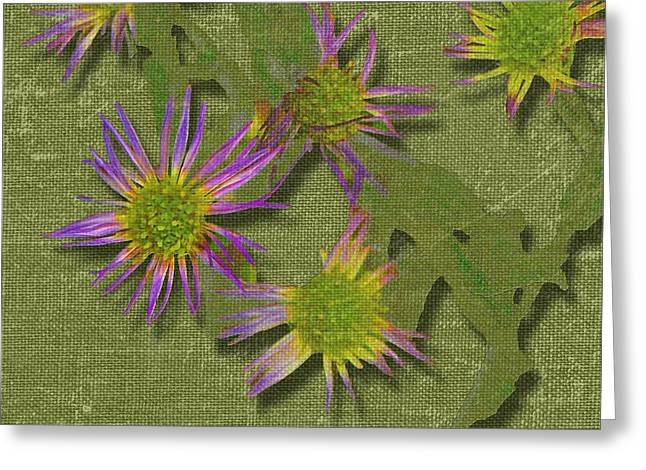 Larry Bishop Photography Greeting Cards - Spring on Green Greeting Card by Larry Bishop