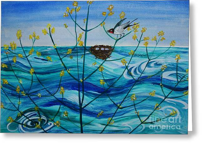 Veronica Rickard Greeting Cards - Spring on Lake Ontario Greeting Card by Veronica Rickard