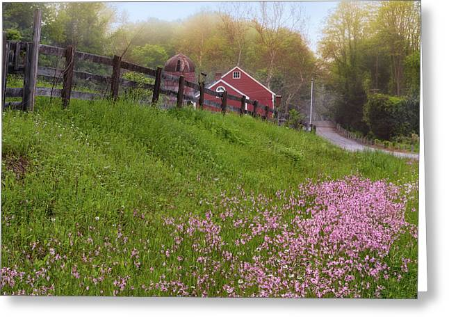Old Country Roads Greeting Cards - Spring On The Farm Square Greeting Card by Bill  Wakeley