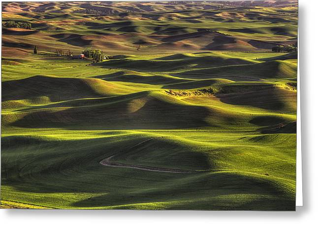Spring On The Palouse Greeting Card by Mark Kiver