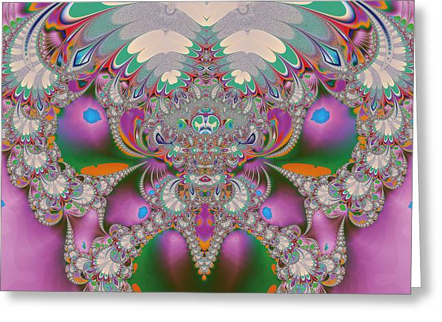 Psychedelic Owl Greeting Cards - Spring Owl Abstract Art Greeting Card by Design Windmill
