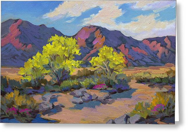 Palos Verdes Cove Greeting Cards - Spring Palo Verde Greeting Card by Diane McClary