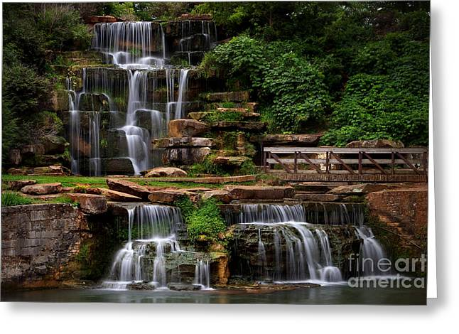 Spring Park Falls Greeting Card by T Lowry Wilson