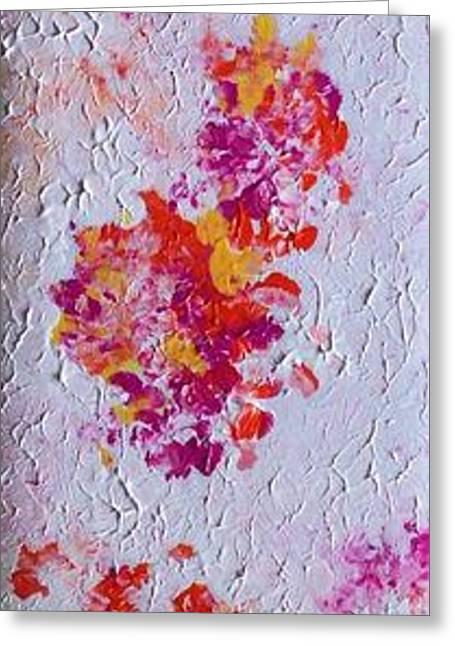 Anna Villarreal Garbis Greeting Cards - Spring Petals I Greeting Card by Anna Villarreal Garbis