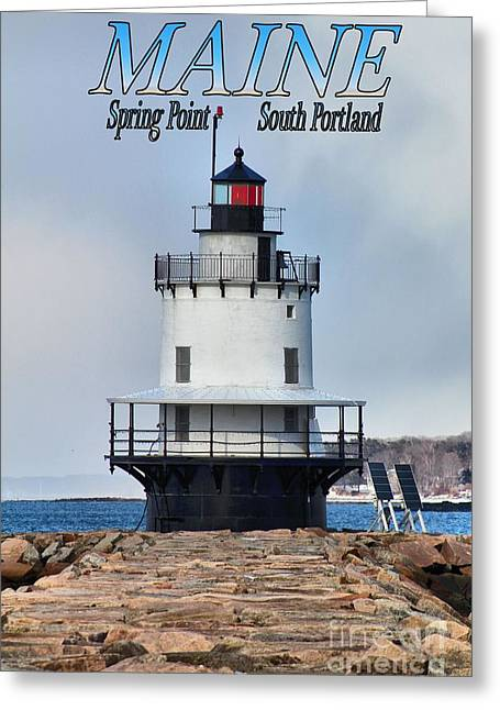Cape Neddick Lighthouse Greeting Cards - Spring Point 9140a Greeting Card by Joseph Marquis