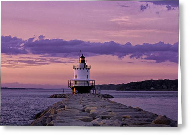 Maine Spring Greeting Cards - Spring Point Farewell Greeting Card by Charlie Widdis
