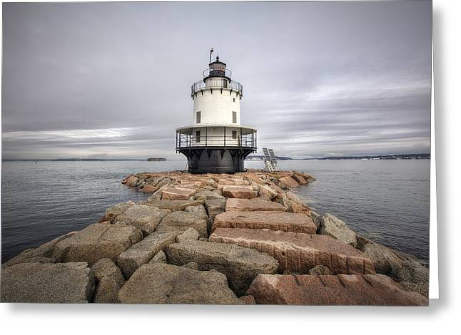 Ledge Greeting Cards - Spring Point Ledge Greeting Card by Eric Gendron