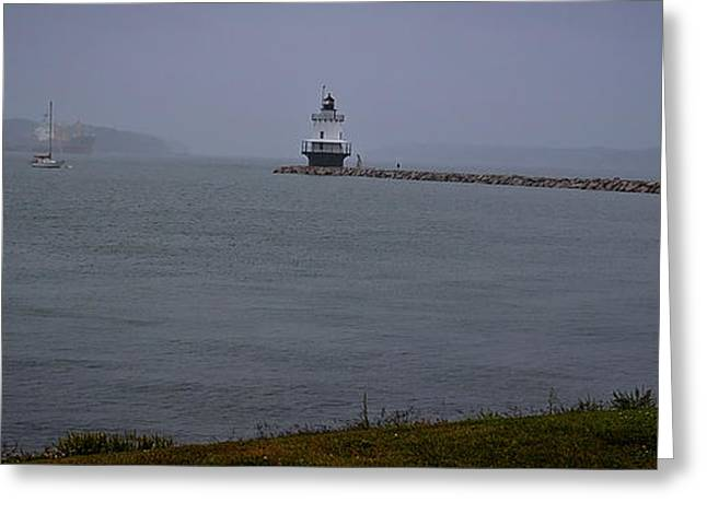 Old Maine Houses Greeting Cards - Spring Point Ledge Light Greeting Card by Deborah Klubertanz