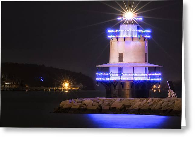Maine Spring Greeting Cards - Spring Point Lighthouse Greeting Card by Scott Thorp
