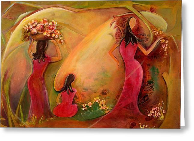 Romantico Greeting Cards - Spring Primavera Greeting Card by Yolanda Suarez