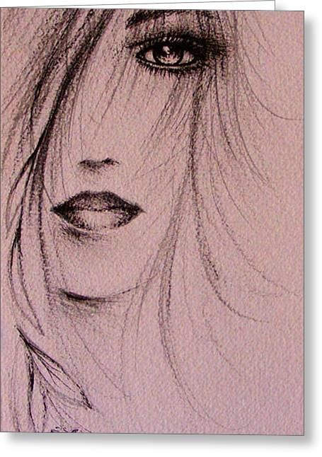 Mystical Drawings Greeting Cards - Spring Greeting Card by Rachel Christine Nowicki